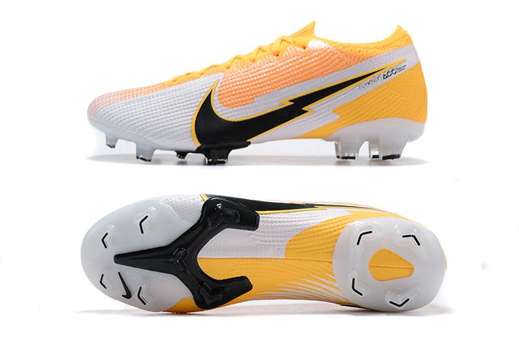 Nike Mercurial Vapor VII 13 Elite FG-yellow white black Sole