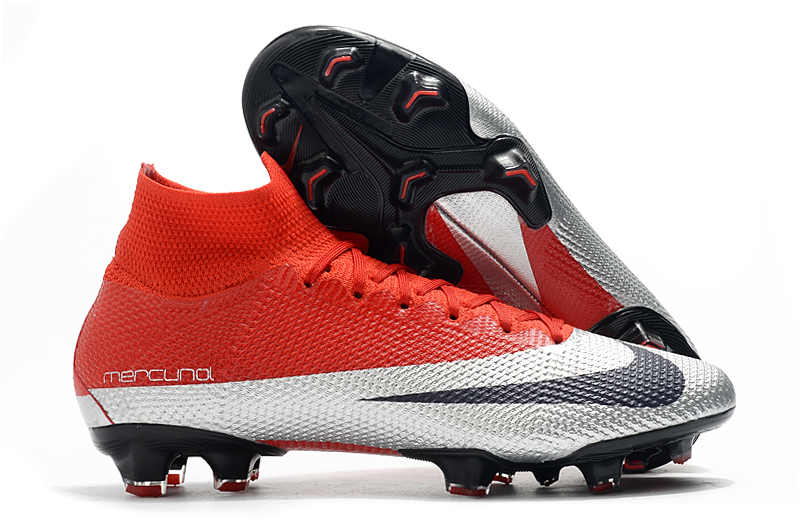 Nike Superfly 7 Elite SE FG-Red Silver White shoes