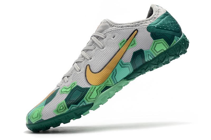 Nike Vapor 13 Pro TF-Gris Oro Verde Left