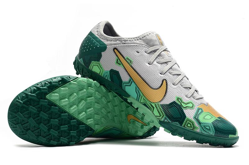 Nike Vapor 13 Pro TF-Gris Oro Verde Right
