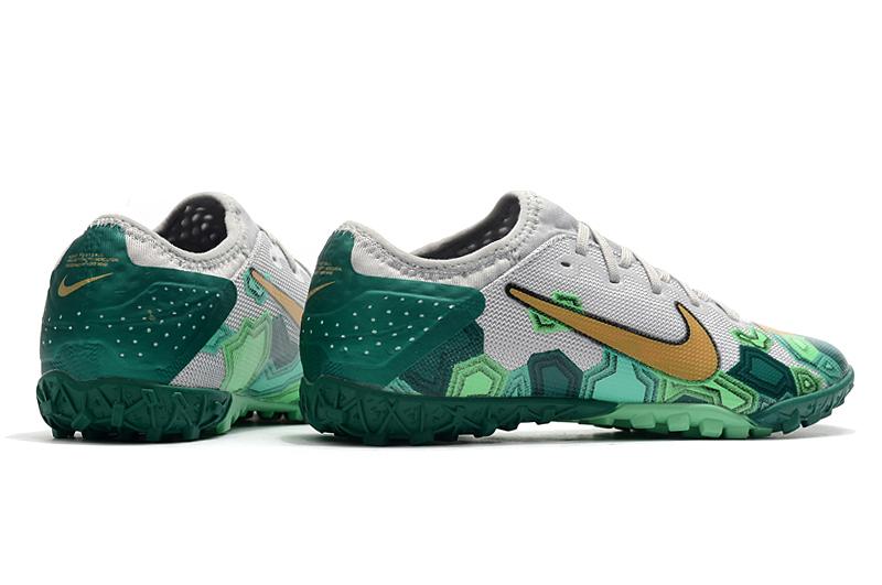 Nike Vapor 13 Pro TF-Gris Oro Verde side