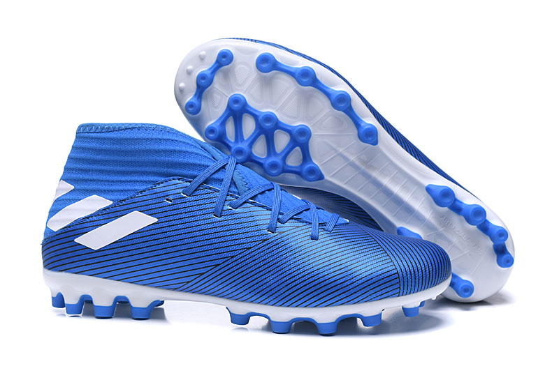 adidas NEMEZIZ 19.3 AG-Azul y blanco Right