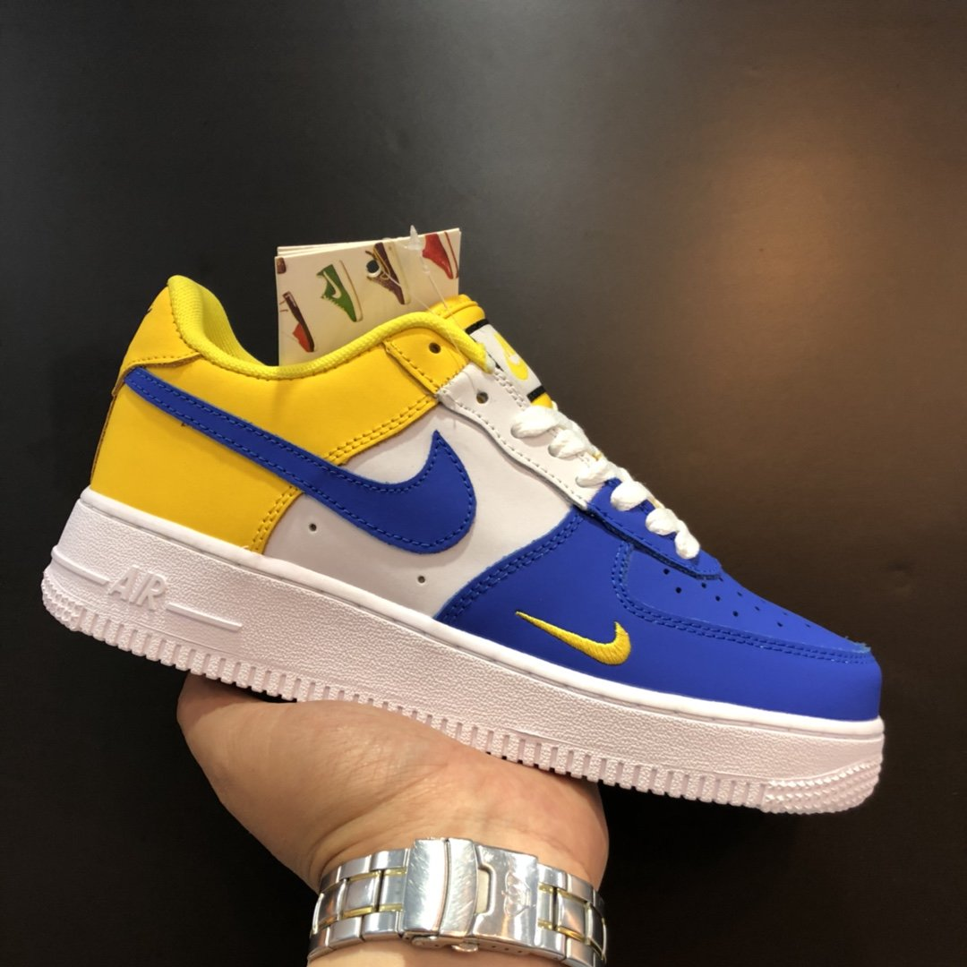 Nike Air Force 1 Blue White Yellow