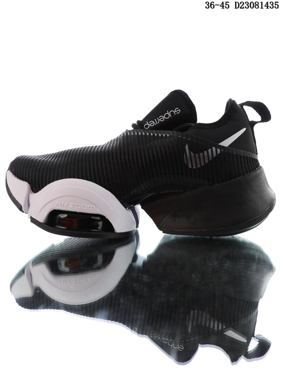 Nike Air Zoom Superrep black and white air cushion running shoes
