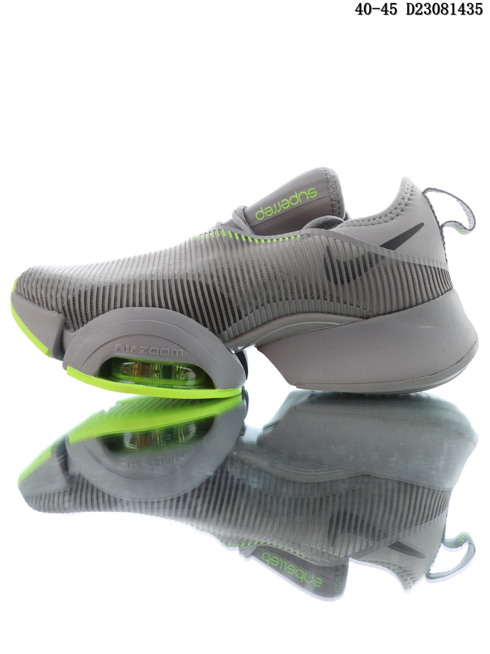 Nike Air Zoom Superrep gray-green cushioned running shoes