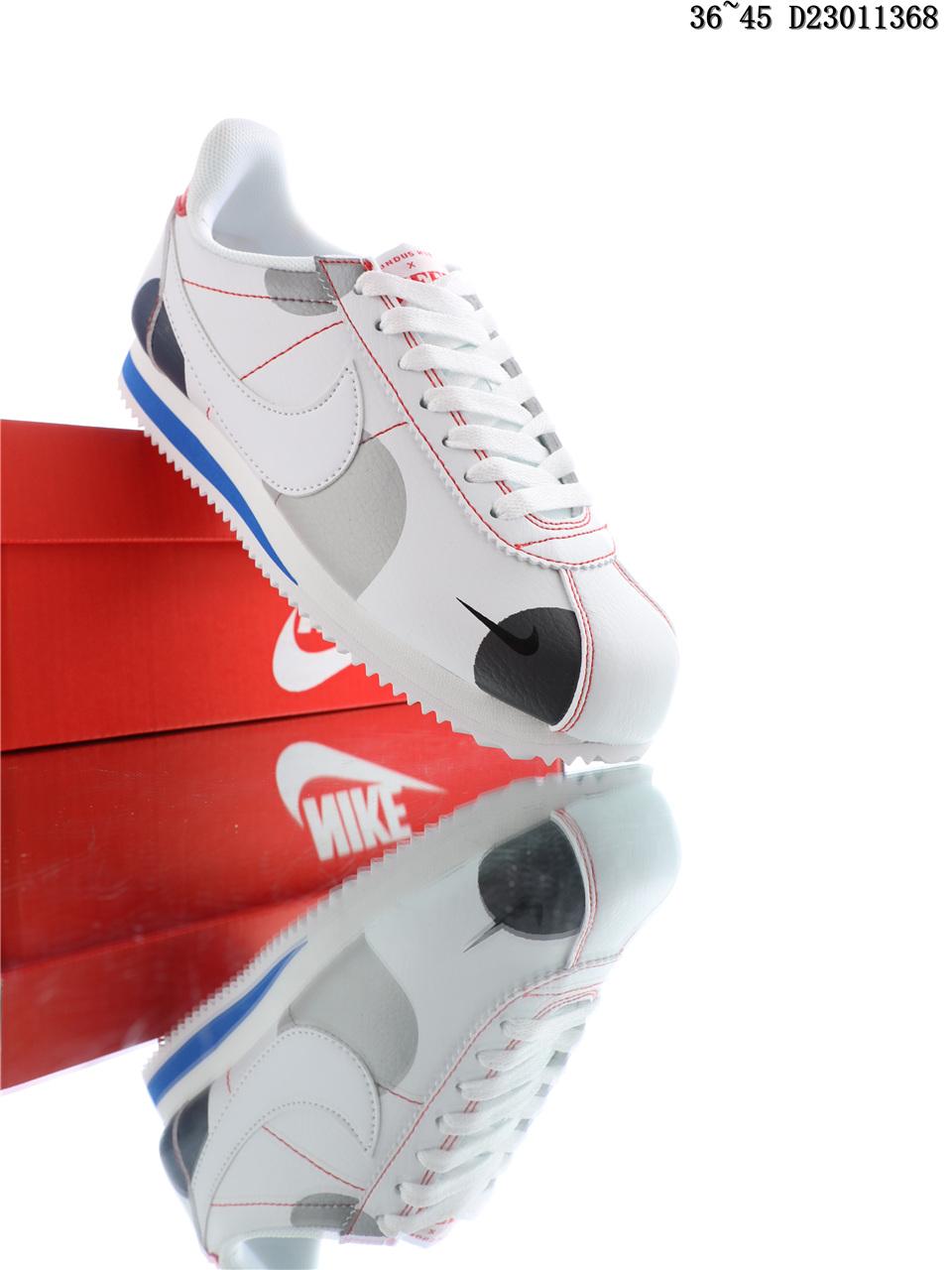 Nike Classic Cortez Running Shoes Black Gray Blue Shop