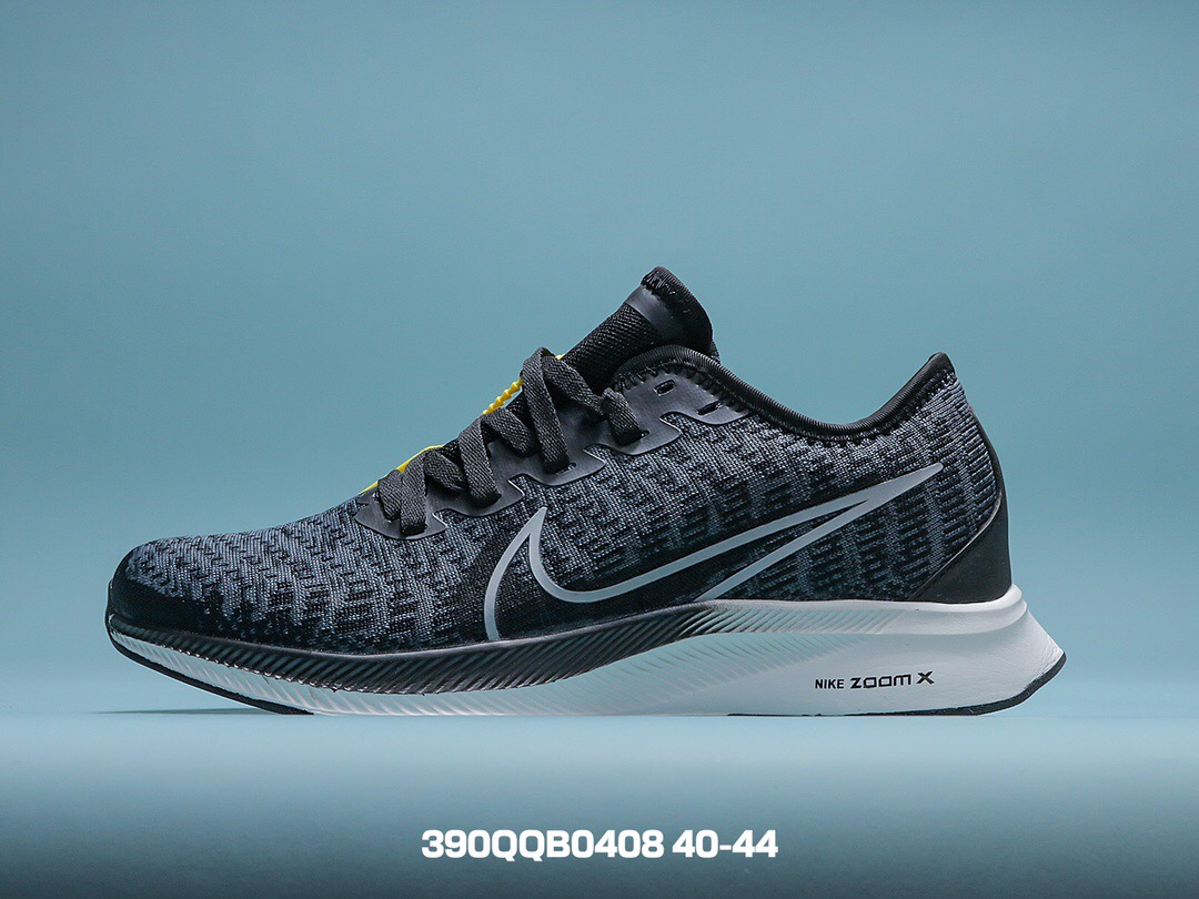 Nike classic running shoes black side