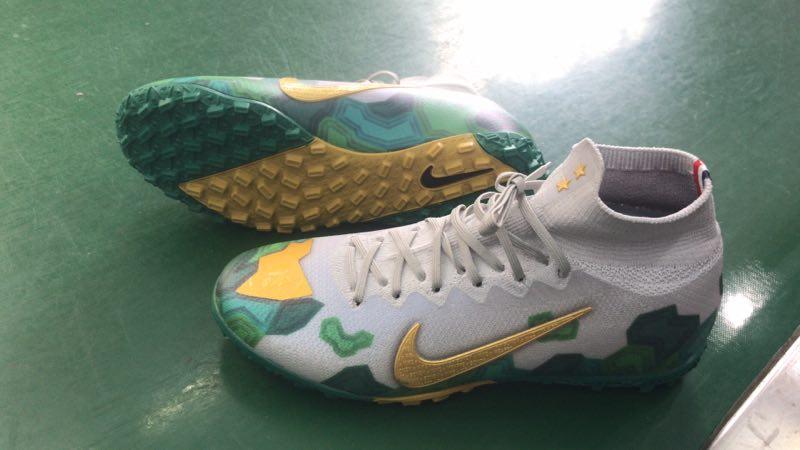 Nike Mercurial Vapor VII 7 Elite TF yellow white green