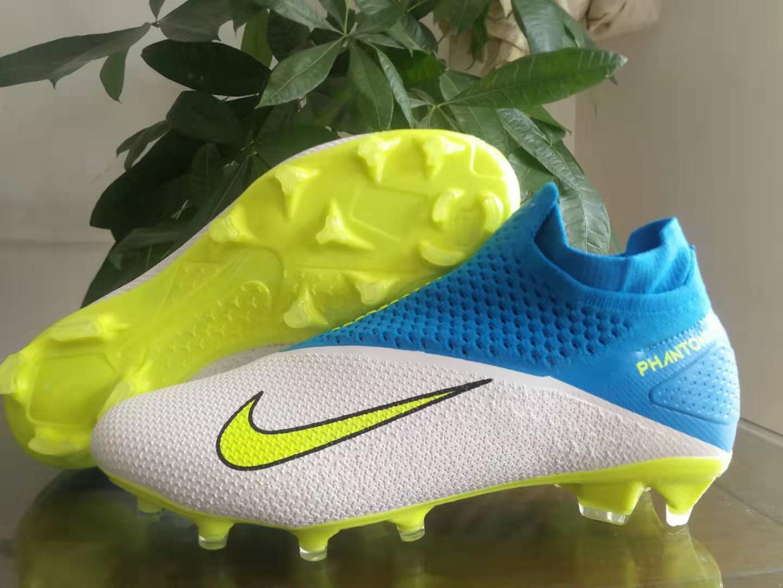 Nike Phantom Vision Elite DF white yellow blue shoes