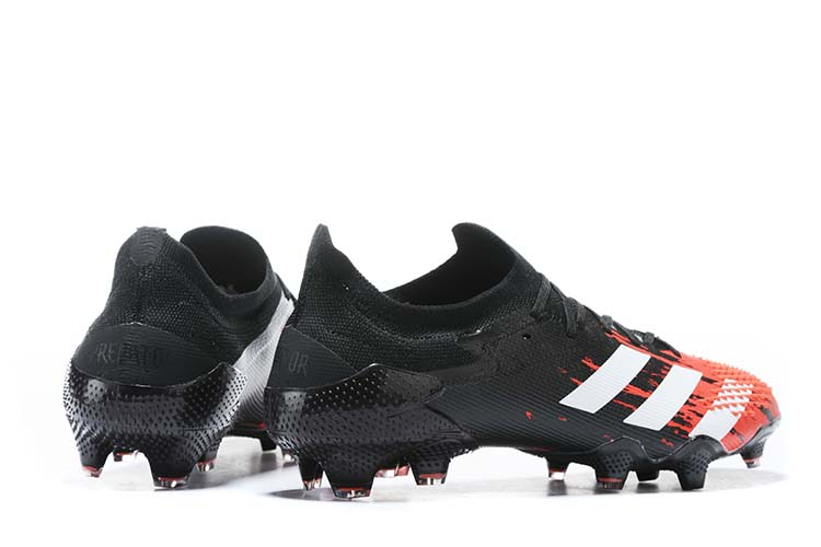 adidas Predator 20.1 Low-Cut FG Firm Ground Soccer Cleat - Black Red White Behind