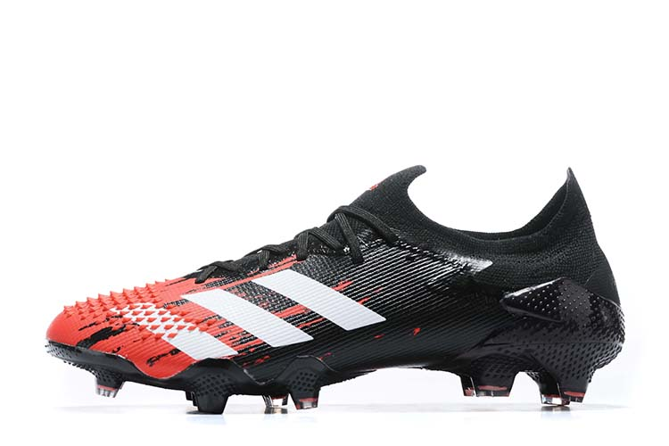 adidas Predator 20.1 Low-Cut FG Firm Ground Soccer Cleat - Black Red White Left