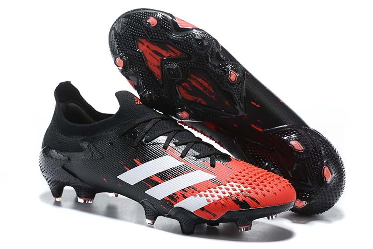 adidas Predator 20.1 Low-Cut FG Firm Ground Soccer Cleat - Black Red White Outside