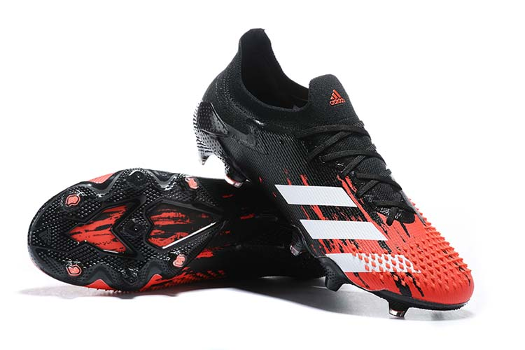 adidas Predator 20.1 Low-Cut FG Firm Ground Soccer Cleat - Black Red White Right
