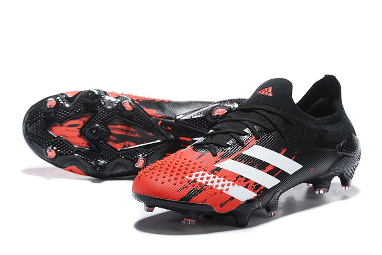 adidas Predator 20.1 Low-Cut FG Firm Ground Soccer Cleat - Black Red White Sell