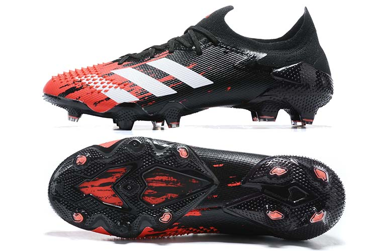 adidas Predator 20.1 Low-Cut FG Firm Ground Soccer Cleat - Black Red White Sole