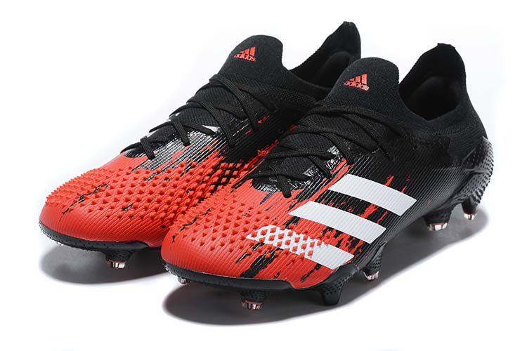 adidas Predator 20.1 Low-Cut FG Firm Ground Soccer Cleat - Black Red White