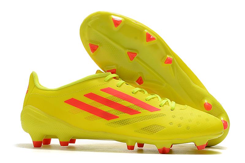 Adidas X99 19.1 FG yellow orange side