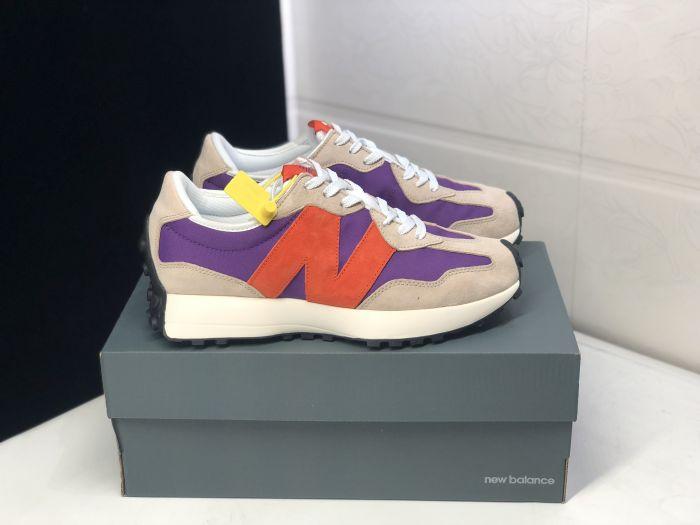 New Balance 327 purple orange running shoes special MS327SPF