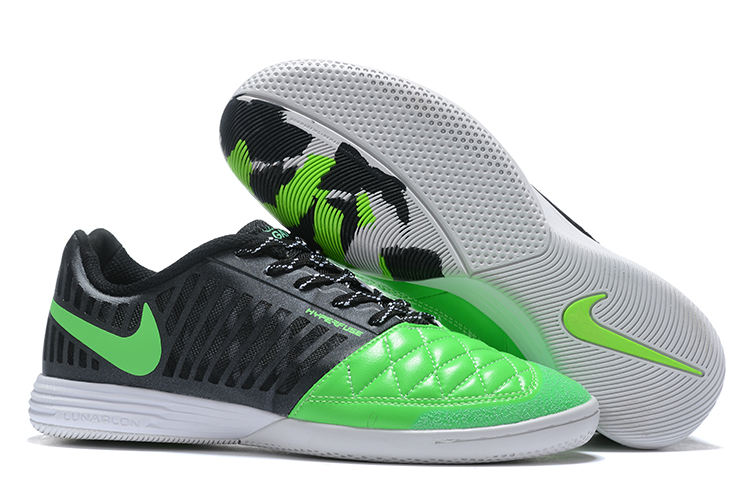 Nike Lunar Gato II IC Green Black Right