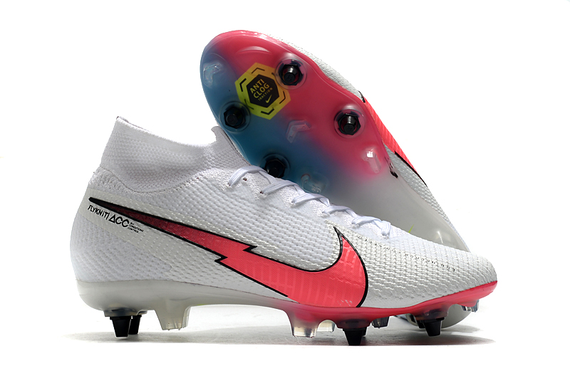 Nike Mercurial Superfly 7 Elite SG-PRO AC White Red Sell