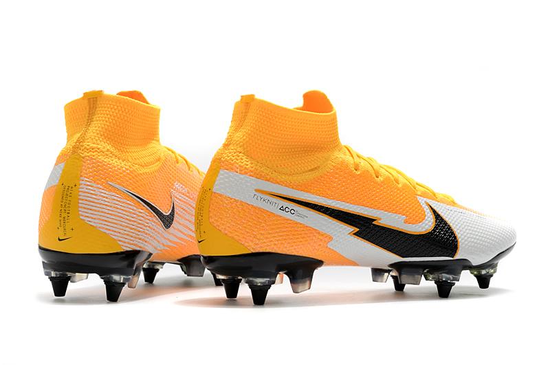 Nike Mercurial Superfly 7 Elite SG-PRO AC Yellow White Heel