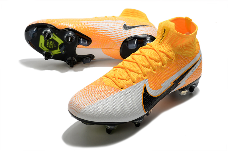 Nike Mercurial Superfly 7 Elite SG-PRO AC Yellow White vamp