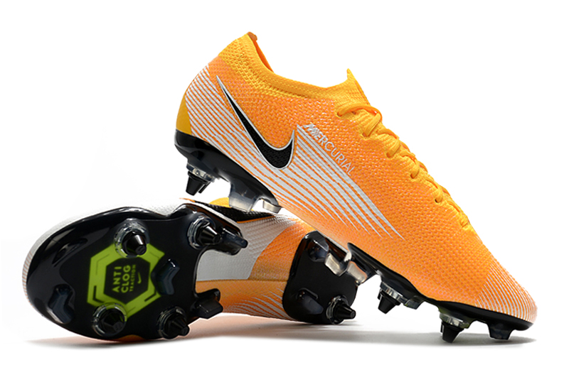 Nike Mercurial Vapor 13 Elite SG-PRO AC Yellow White Shoes