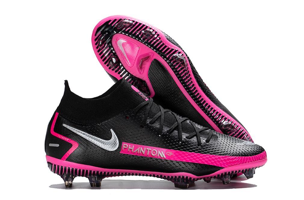 Nike Phantom GT Elite FG Black Silver Pink Blast Black Pink Silver
