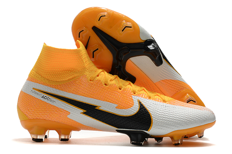Nike Superfly 7 Elite FG yellow and white Outside
