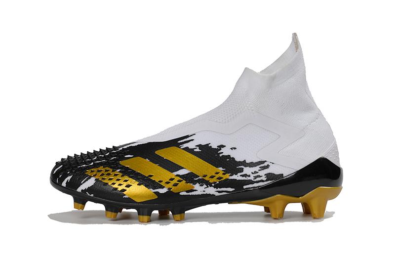adidas Predator Mutator 20 + AG Metal Yellow Black White Left sid