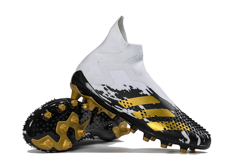 adidas Predator Mutator 20 + AG Metal Yellow Black White Right