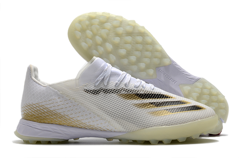 adidas X Ghosted .1 TF white gray yellow Outside