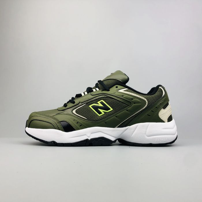 New Balance WX452SO dark green army color side
