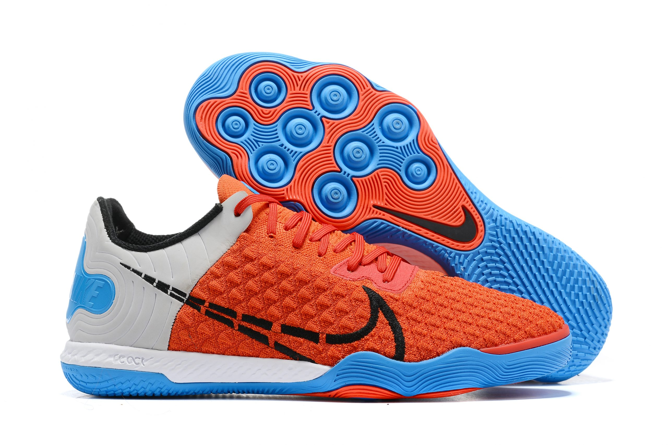 Nike Reactgato IC red and blue football boots Outside