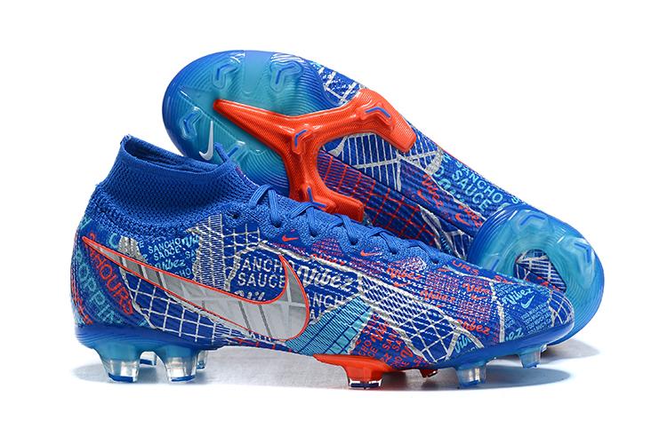 Nike Superfly 7 Elite SE FG blue metallic red football shoes Shoes
