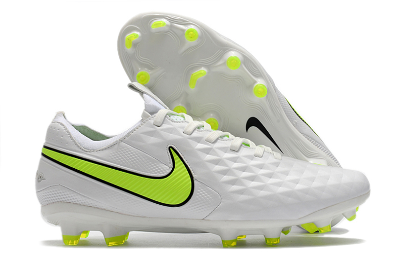 Nike Tiempo Legend 8 Elite FG white and yellow football boots Outside