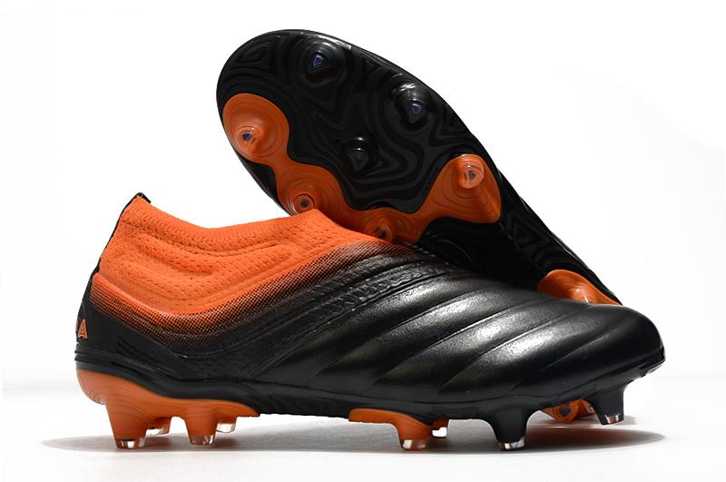 adidas Copa 20 + FG black orange football boots side