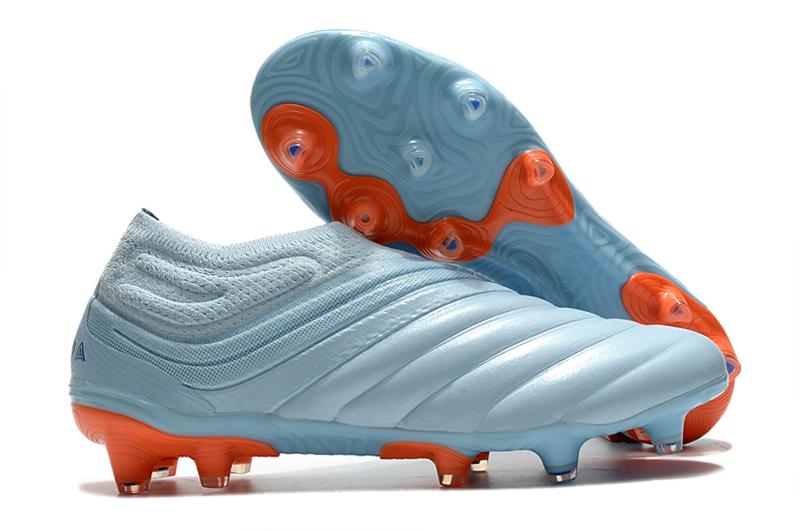 adidas Copa 20 + FG white blue orange side