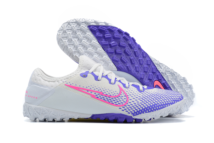 Brand new Nike Vapor 13 Pro TF blue pink white football boots side