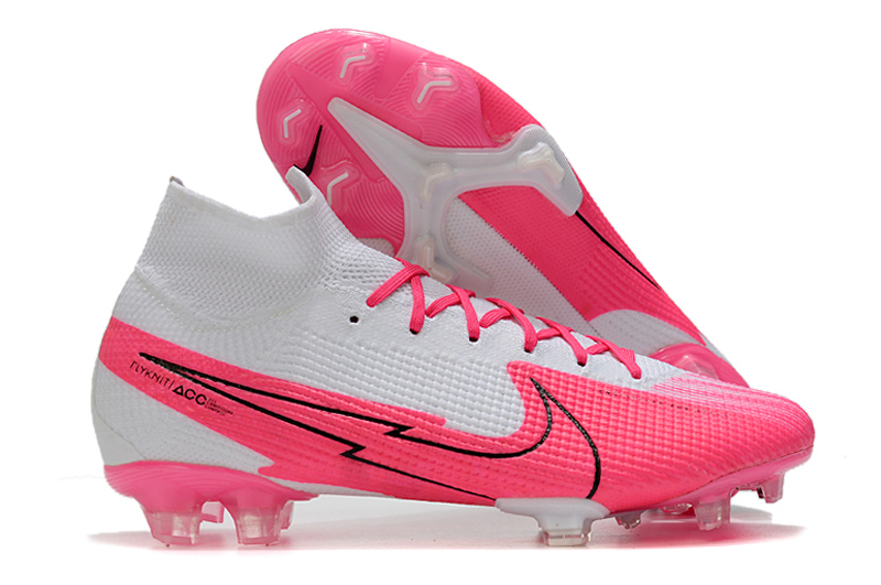 NIKE Superfly VII New Lights pink white side