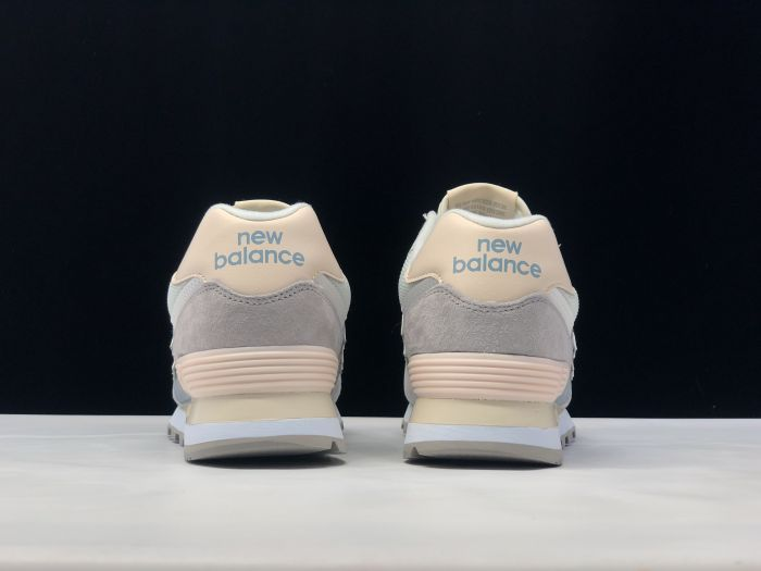 New Balance M574LBR retro fashion sneakers jogging shoes after heel