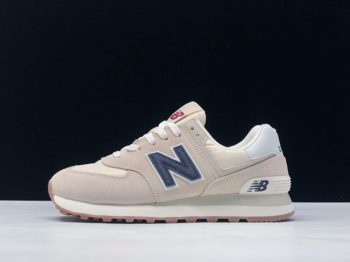 New Balance M574SCD light pink retro fashion sneakers couple shoes Outside