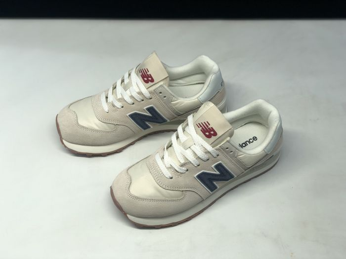 New Balance M574SCD light pink retro fashion sneakers couple shoes Upper