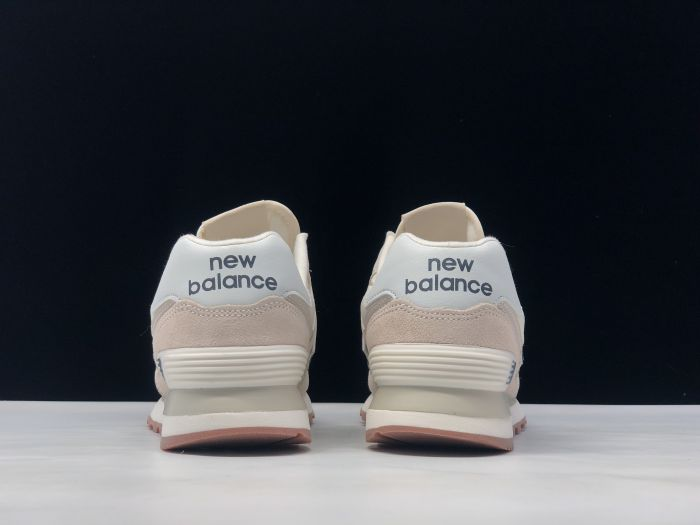 New Balance M574SCD light pink retro fashion sneakers couple shoes after heel