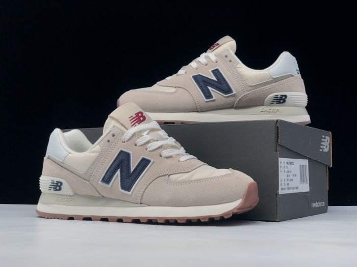 New Balance M574SCD light pink retro fashion sneakers couple shoes right