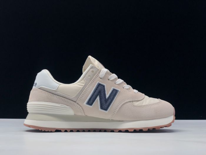 New Balance M574SCD light pink retro fashion sneakers couple shoes side