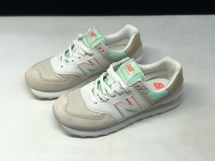 New Balance M574SCE light blue gray retro fashion sneakers couple shoes Upper