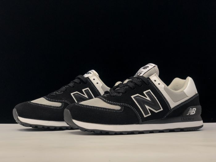 New Balance M574SSN black retro fashion sneakers couple shoes Left sid