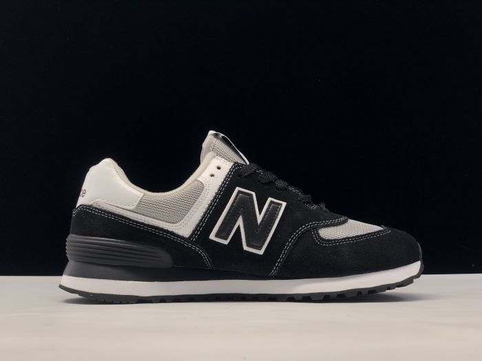 New Balance M574SSN black retro fashion sneakers couple shoes side