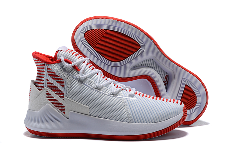 adidas D Rose 9 red and white basketball shoes for sale free shipping